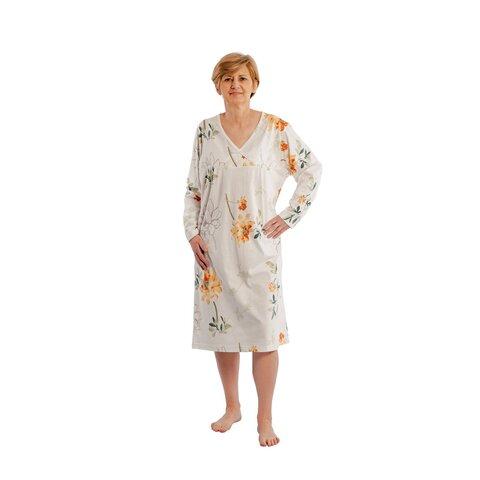 a571b6085a1dca suprima Nachthemd 4066, Baumwolle, für Damen, S bis XL, gelb bedruckt ...